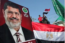 Morsi poster in Gaza