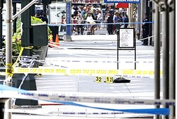 Site of shooting outside the Empire State Building