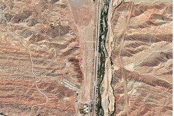A section of the Parchin military facility in Iran