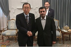 Ban Ki-Moon and Ahmadinejad
