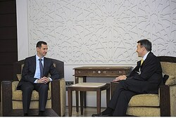 Assad meets ICRC President Peter Maurer in Damascus