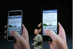 Apple Senior Vice President of Worldwide product marketing Phil Schiller announces the new iPhone 5