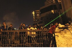 Anti-US protesters near Tahrir Square in Cairo
