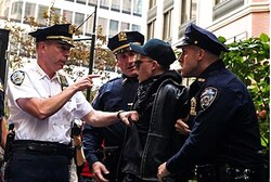 New York police arrest an Occupy Wall Street activist during demonstrations