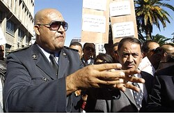 Security and police officials at Tunisia's Interior Ministry