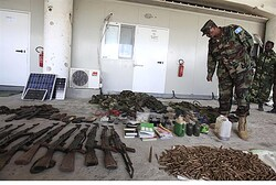 Somali National Army inspects Al Shabaab arms