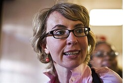 Former senator Giffords faced her shooter for the first time Thursday