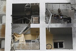 Rocket Damage in Ashdod