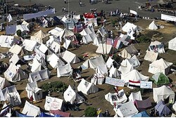Protest tents in Tahrir Square