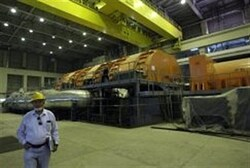 File picture shows the inside of the Russian-built Bushehr nuclear power plant in southern Iran.