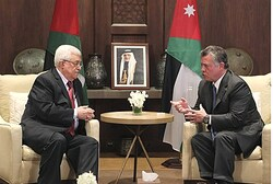 Jordan's King Abdullah meets with PA chairman Mahmoud Abbas