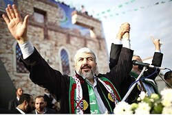 Khaled Mashaal in Gaza