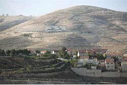 Maaleh Adumim, with E1, background, near Jerusalem