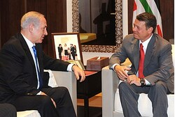 Netanyahu and King Abdullah (archive)