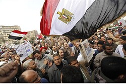 Members of the Muslim Brotherhood rally in Cairo