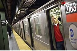 man aboard NY city subway