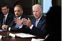Biden, speaking about gun control