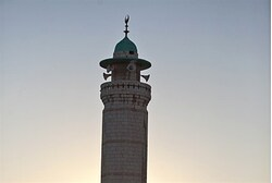 Mosque tower in Jerusalem