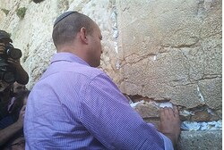 Naftali Bennett at the Kotel Monday
