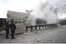 Explosion at the entrance of the U.S. Embassy in Ankara