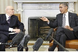 President Obama meets with Italy's President Napolitano