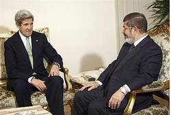meeting between John Kerry and Mohamed Morsi