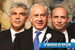 Lapid, Netanyahu, Bennett