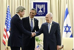 Meeting between John Kerry, President Obama and Shimon Peres