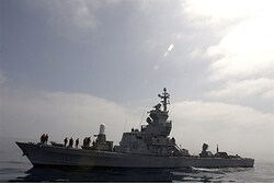 An IDF navy Missile Boat armed with anti-ship missiles