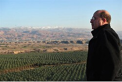 Defense Minister Moshe Yaalon tours the Jordan Valley