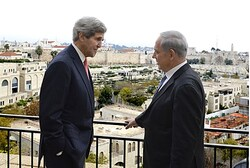 Binyamin Netanyahu and John Kerry in Jerusalem