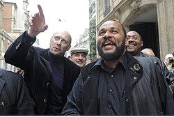 Dieudonne with former far-right National Front Party political advisor Alain Soral
