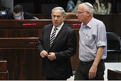 Ariel (right) with Netanyahu