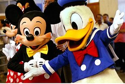 Donald Duck and Mickey Mouse (file)