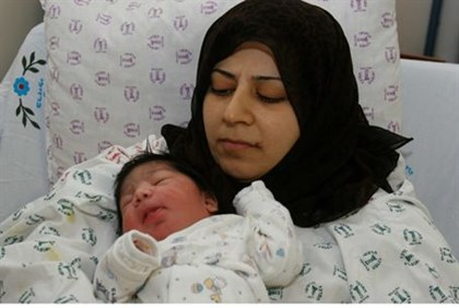 Gaza woman with baby
