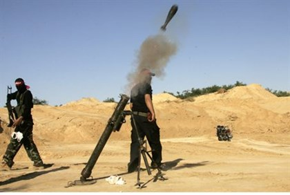 Terrorists fire mortar shells