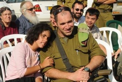 IDF Senior Officer with SHALVA Kids