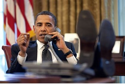 Obama during phone call to Netanyahu in 2009