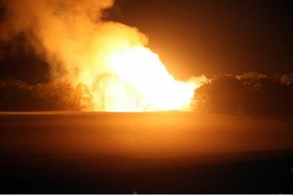 Gas pipeline explosion (illustrative)