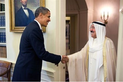 US President Obama and Sheikh al-Sabah, Emir of Kuwait