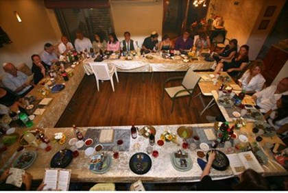 Passover seder (illustrative)