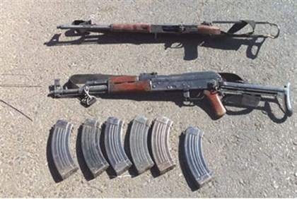 Weapons confiscated from Gaza smugglers