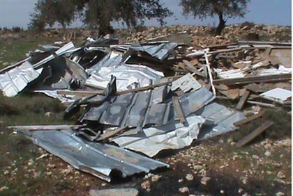 Ramat Migron after police destruction (archive)