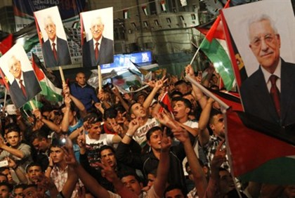 Ramallah Celebrates Abbas's Speech