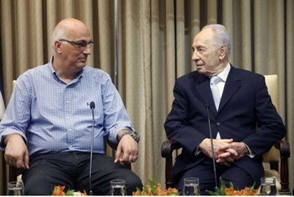 Shimon Peres and David  Meidan