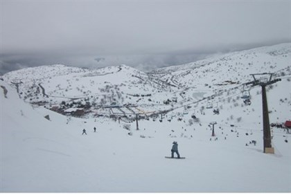 Snow blankets Hermon in Golan Heights