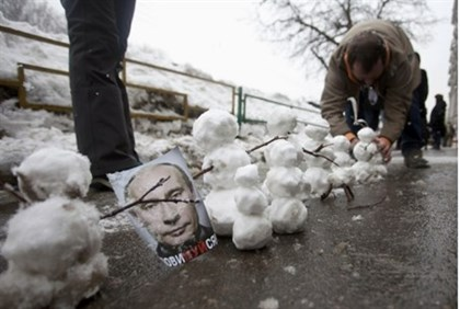 Putin In the Snow