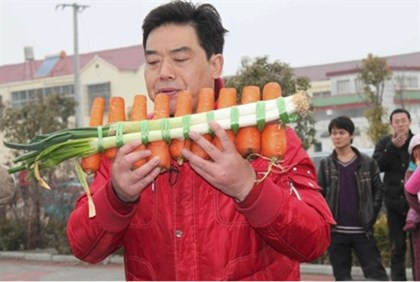 Carrot and Scallion Flute