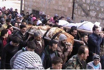 Funerals for Free Syrian Army soldiers; many were tortured