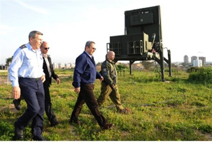 Barak at Iron Dome site